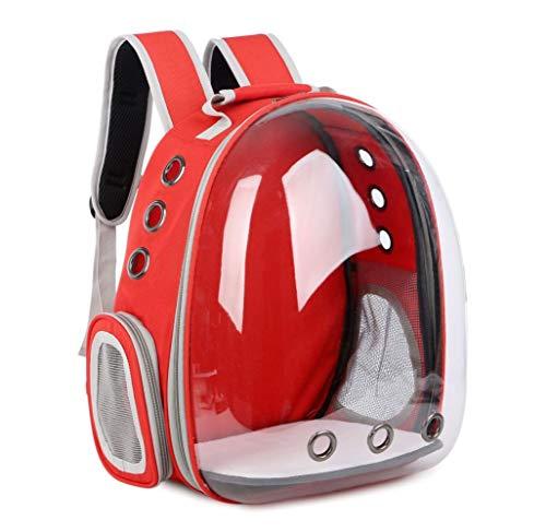 AMTSKR Weltraumkapsel transparenter Haustier-Rucksack, Hundehandtasche aus der Box, tragbare Reinigungstasche, 34 x 25 x 42 cm
