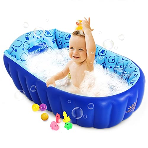 Piscinas hinchables Bañera para Niños De 0~3 Años Bañera Inflable para Niños Grandes Material De PVC, Duradero Y No Fácil De Deformar (Color : Blue, Size : 90 * 55 * 30cm)