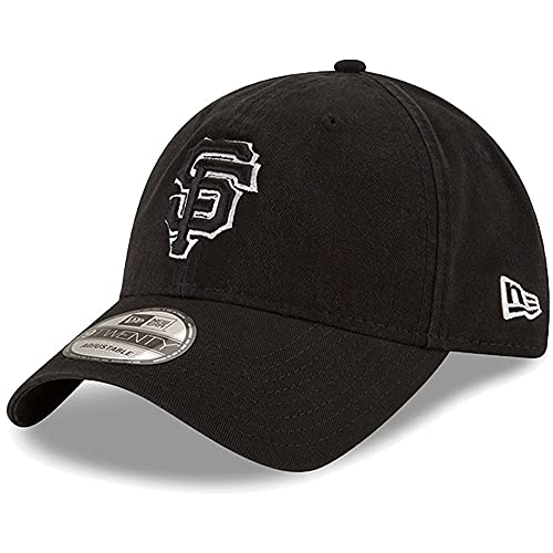 San Francisco Giants Black Core Classic Twill 9Twenty Adjustable Hat