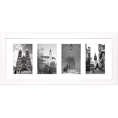 Golden State Art, 8x 20foto en blanco de madera para collage marco con cristal blanco y Pantallas (4) 4x 6fotos