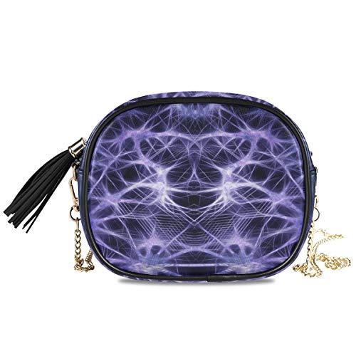 XiangHeFu Card Holder Phone Bag Purse Wallet Girls Coin Case Large Capacity Abstract Hi Tech Cyber Computer