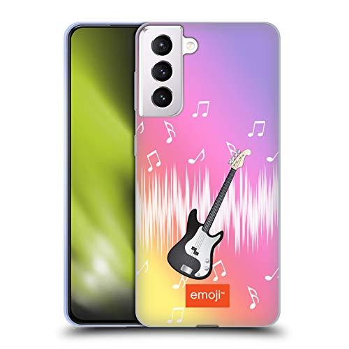 Head Case Designs Offizielle Emoji® Gitarre Musik Soft Gel Handyhülle Hülle Huelle kompatibel mit Samsung Galaxy S21+ 5G