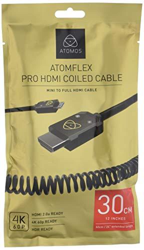 Atomos 4K60C3cavo HDMI Mini 30cm, Cast Connector (60cm Extended) Nero