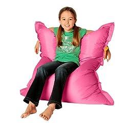 Un pouf poire enfant rose pour les filles