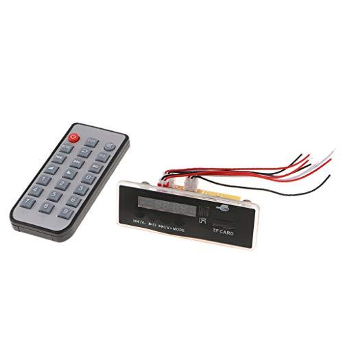 H HILABEE Car Audio Radio Inalámbrico MP3 Tarjeta de Decodificación FM Control Remoto USB TF