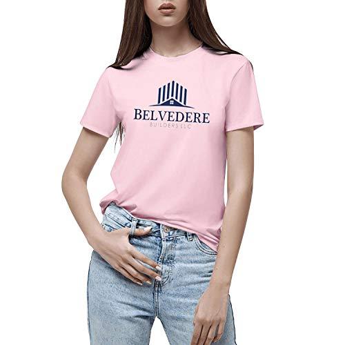 Girls T Shirt Belvedere-Buildersllc-Light-Pink Stylish T Shirt O Neck T Shirt Fitness T Shirt