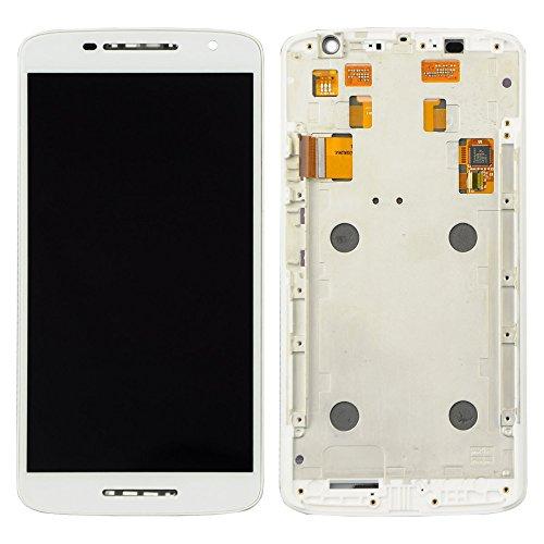 Motorola Moto X Play XT1562 XT1563 LCD Display Touchscreen Digitizer Glas Assembly Rahmen Ersatzteile + Werkzeuge (Weiß)