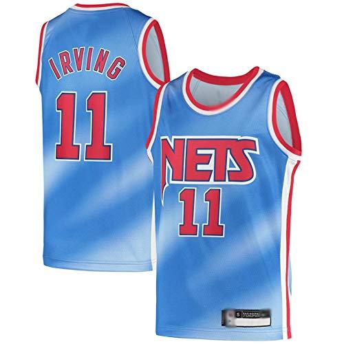 PTELEA Hombres Fitness Net Baloncesto Tops Moda Irving Jersey NO.11 Azul, azul, XL
