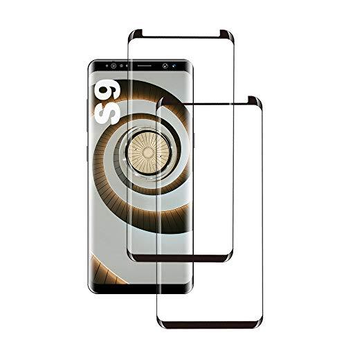 Galaxy S9 Panzerglas Schutzfolie, [2 Stück] 3D Hohe Qualität Gehärtetem Glass [HD Clear] [Blasenfrei] [9H Härte] [Anti-Kratzer] [Case Friendly] Panzerglasfolie für Samsung Galaxy S9