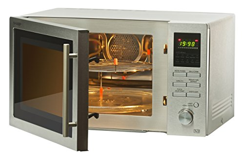 41nVk0aw1ML - Sharp R82STMA Combination Microwave Oven, 25 Litre capacity, 900W, Stainless Steel