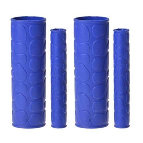 Manillares Puños 4 Piezas Antideslizante Manillar de la Motocicleta Grip Freno Embragues Lever Protector de la Cubierta cómodo de agarrar LPLHJD (Color : Azul, Size : Gratis)