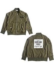 [シスタージェニィ] バックデザイン パッチMA-1 ジャケット カーキ 02115101 ライトアウター ジュニア 女の子 キッズ