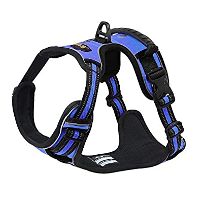 Acare Dog Harness Large Vest, Comfirt Harness For Dogs With Handle Large Dog walking harness - No More Pulling, Tugging or Choking - Blue