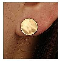 Olbye Coin Disc Studs Earrings Gold Circle Earrings Charm Earring Body Jewelry for Women and Girls [並行輸入品]