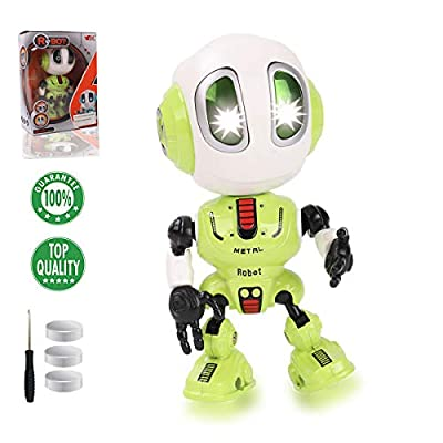 TTOUADY Robot Toys for Kids, Talking Robots Educational Toy for 3 4 5 6+ Year Old Boys Girls, LED Eyes, Interactive Voice and Touch Sensitive Flexible Robots Gift (Green)