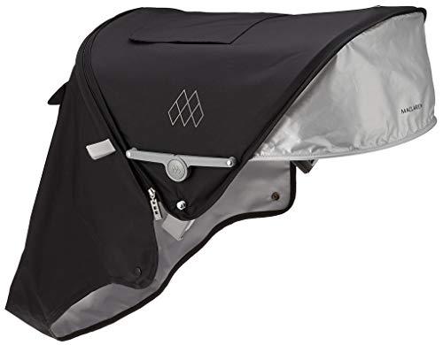 Maclaren Techno XT Capucha, Capucha extensible UPF50 + / impermeable que se adapta a los buggies Techno XT, negro/plateado
