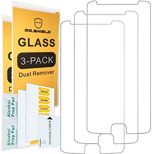 [3-PACK]- Mr.Shield Designed For Motorola Moto E4 / Moto E (4th Generation) [Tempered Glass] Screen Protector [Japan Glass With 9H Hardness] with Lifetime Replacement