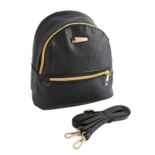 Morninganswer Mini Backpack Female Bag PU Leather Women Sweet Girl Travel Shoulder Bags Adjustable Straps Fashion Zipper Bag