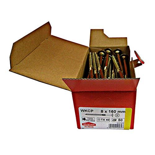 Tellerkopfschrauben Holzbauschrauben alle Größen Tellerkopf Torx Schrauben (50Stück 6x160mm TX30)