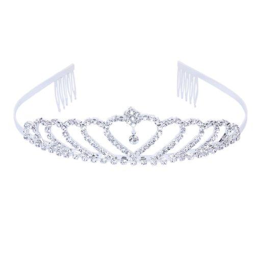 Krone Stilvolle Strass Prinzessin Stirnband Haarspange Diadem Hochzeit Braut Pin