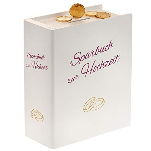 Sparbuch zur Hochzeit in Weiß - Hochzeitsgeschenke Ideen für Brautpaar - Originelle Geldgeschenke zur Hochzeit