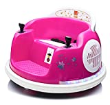 u URideon Ride On Bumper car for Kids, 6V Electric Vehicle Ride on Toys with Remote Control, Music,Colorful Flashing Lights,Battery Powered (Pink)