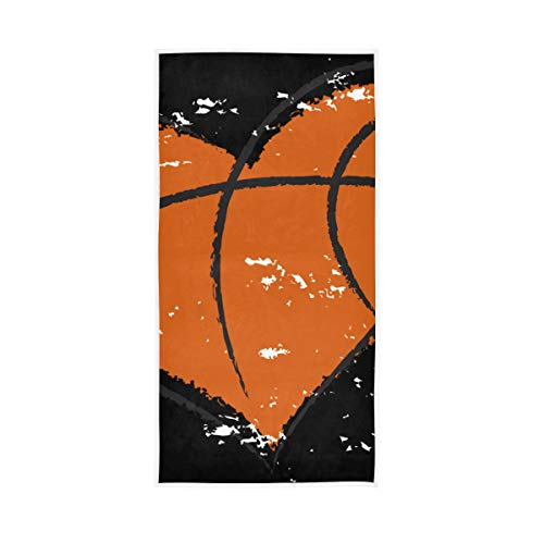 Rootti - Toalla de baloncesto con textura de corazones, toalla de mano de algodón, lavable, toalla de cara, suave y transpirable, toalla para el sudor, juego de toallas para nadar hotel