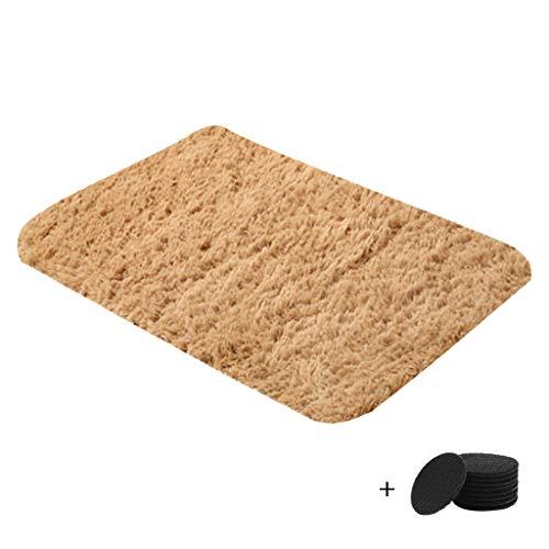 NNCTA Area Carpet Super Soft Fluffy Bedroom Rug Sofa Living Room Area Carpet Home Decoration Plush Carpet Tiles Nursery Rug Children's Play Mat+4PC Non-Slip Mat 40x60cm/80x160cm/60x120cm