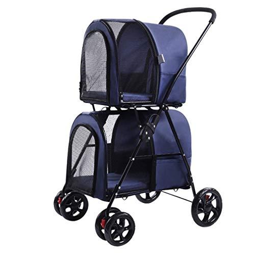 Transportador de mascotas Doble Roadster mascotas - Cochecito de lujo for mascotas...