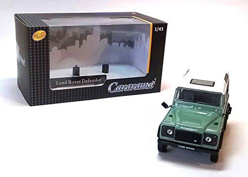 Land Rover Defender 90, grau-grün/weiss, Modellauto, Fertigmodell, Cararama 1:43