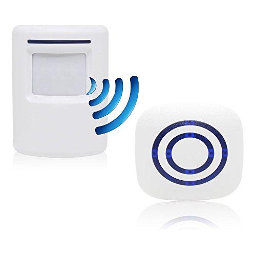 Sensore Di Movimento Wireless, Domowin Allarme campanello wireless Kit di Allarme con Sensori di Movimento Infrarossi