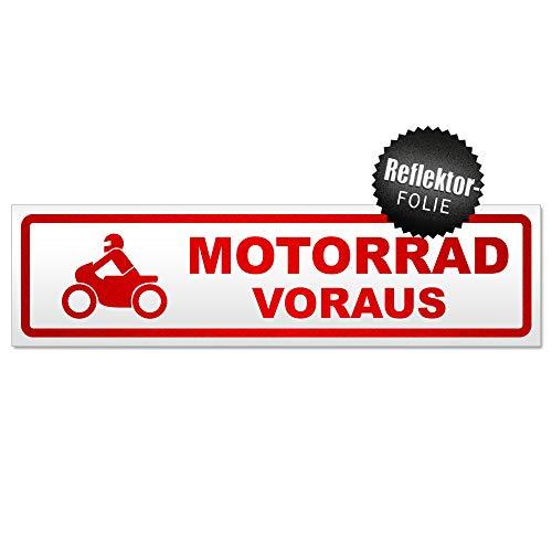 Kiwistar Motorrad voraus 2 Magnetschild Schild magnetisch