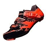 CUTICATE MTB Fahrradschuhe Mountainbike Schuhe Radsportschuhe Klettverschluss Sportschuhe - Orange, 44