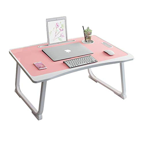AOIWE Upgraded Bed Laptop Desk, Bedroom Sitting On The Floor Of The Student Dormitory Study Desk, Simple Folding Lazy Small Desk (Color : A)