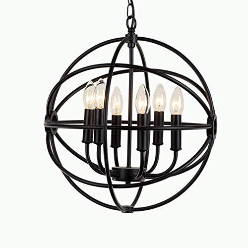 YANGQING Lámpara de luz americana con iluminación rústica, creativa, sala de estar, pasillo, restaurante, barra de luz de hierro forjado (color: 6 cabezas), color: 8 cabezales (color: 8 cabezas)