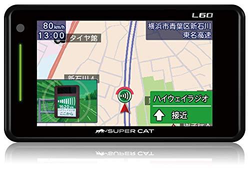 ユピテル レーダー探知機 SUPER CAT L60 3.6型液晶タッチパネル 取締データ5万4千件収録 OBD2接続可 GPS 地図画面(フルマップ)表示 Yupiteru