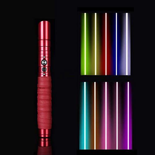 QSCZZ RGB Color Cambio de Luces, Sable de Luces de 100 cm Star Wars, Sable de luz de Juguete de Sonido Luminoso, Espada láser de Cosplay con 3 Juegos de Efectos de Sonido y función de Carga USB