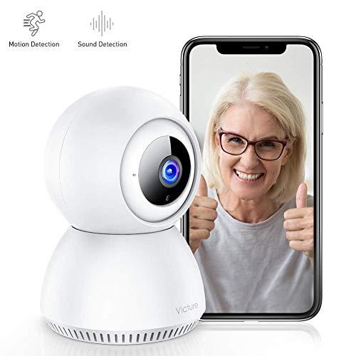 Victure 1080P FHD WiFi-IP-Kamera, Nachtsicht-Überwachungskamera, Bewegungserkennung, Zweiwege-Audio, Innenkamera, Baby/Haustier/Heimmonitor