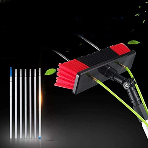 HAOJON Window Cleaning Pole, Window Cleaner Kit, Water/Hose Fed Pole, Window Cleaning Brush Equipment, Cleaning Photovoltaic and Solar Panels/A