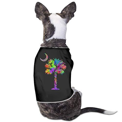 Palmetto Boom Tie Dye Huisdieren Kleding Kostuums Puppy Hond Kleding Vest Tee Shirts