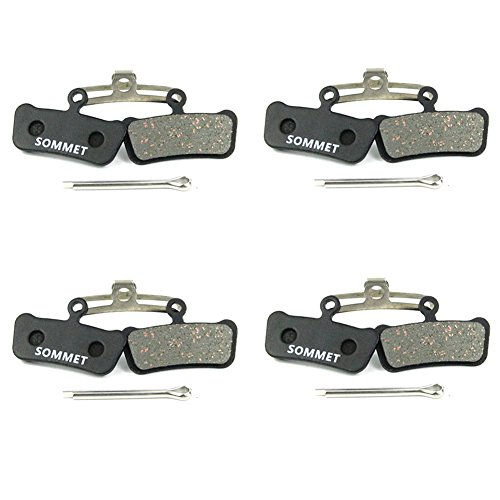 SOMMET Bicyclette Plaquettes de frein à disque 4 paires pour Avid XX Trail/ XO Trail / E9 Trail / E7 Trail / Sram Guide ZSP12-1