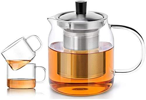 Bouilloire induction Théière à la maison Fuit de thé en verre résistant à la chaleur Théière transparente Théière Petite tasse de cuisson de la cuisinière Cuisine de sécurité 700ml pour bureau extérie
