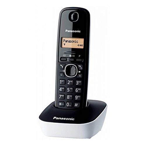 Panasonic KX-TG1611, Teléfono Fijo Inalámbrico (LCD, Identificador de Llamadas, Agenda de 50 Números, Tecla de Navegación, Alarma, Reloj), DECT, Blanco
