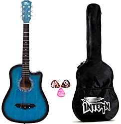 Intern INT-38C Blue Acoustic Guitar - Best Budget Guitar For Beginners India