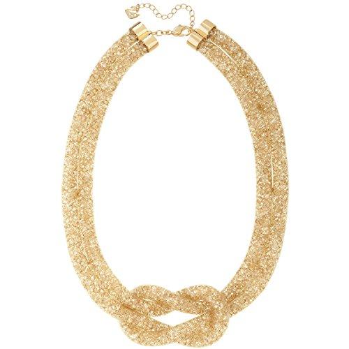 Swarovski Damen-Fischgrätkette Stardust teilvergoldet - 5110617