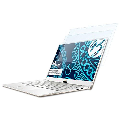Bruni Schutzfolie kompatibel mit Dell XPS 13 2018 9370 Folie, glasklare Displayschutzfolie (2X)