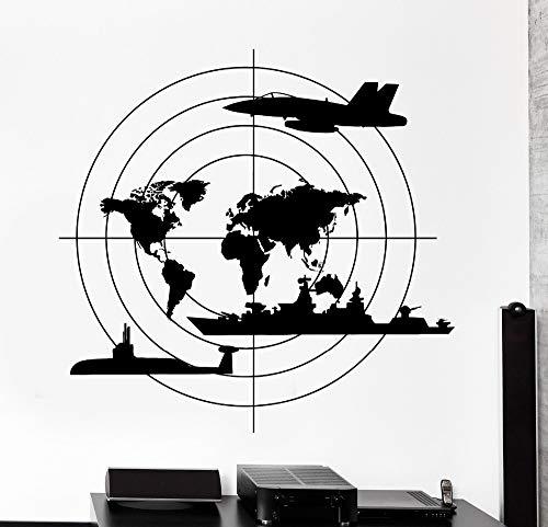 JXFM 68x67cm DIY Custom Größe und Farbe Schöne Dekoration für Kinder Kriegsschiff U-Boot Flugzeuge garantiert Qualität Aufkleber Wandkunst Wandbild Vinyl Wandaufkleber