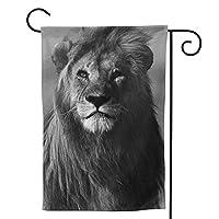 ビッグライオン のぼり旗 ガーデンフラッグ 両面 防風 サイン 休日を祝う 美しい 庭の装飾 アンティークの冬 ガーデンバナー ファッション 屋外装飾 贈り物