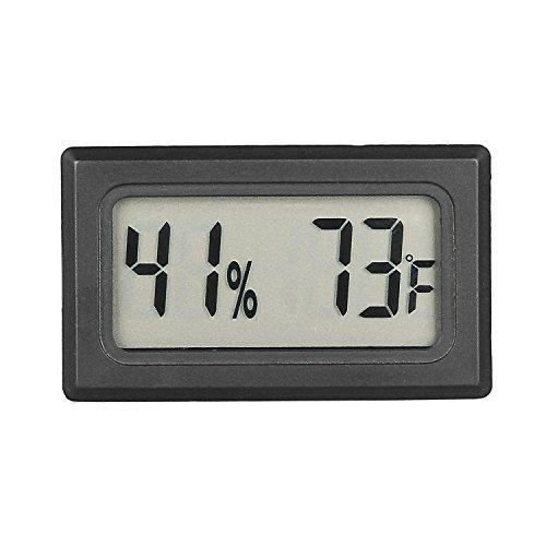 Qooltek Mini Hygrometer Thermometer LCD Display Digital Temperature Humidity Meter Gauge