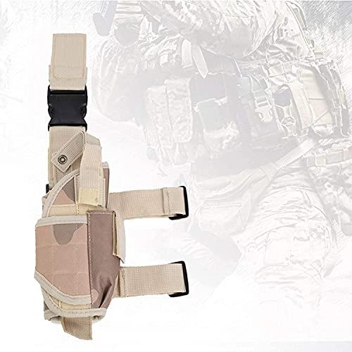 WSVULLD Airsoft Funda, Bolsa de pierna de gota con palo mágico, pistola táctica universal Pistola Pistola Pistola de combate Airsoft Cintura, Bolsa de piernas para paintball, juegos militares,